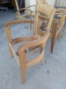 fauteuil bridge décapé par aerogommage