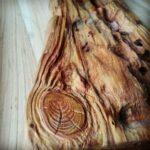 bois sculpté façon bois flotté.