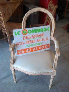 armature d' un fauteuil voltaire décapée
