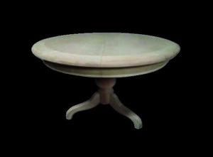 décapage d' une table ronde avec son pied centrale