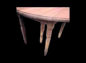 table ronde 4 pieds en chêne sablée