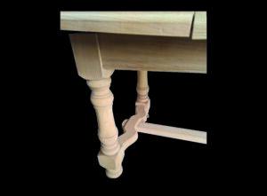 table en chêne décapée par sablage