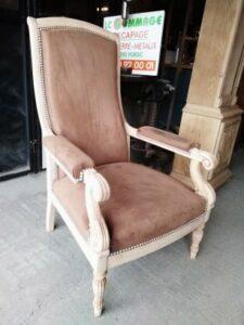 fauteuil décapé