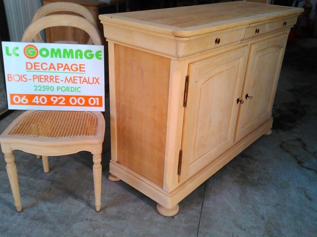 Décapage par Aérogommage de divers meubles